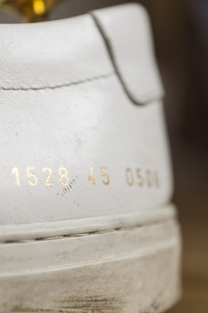 Common Projects Achilles gold numbers
