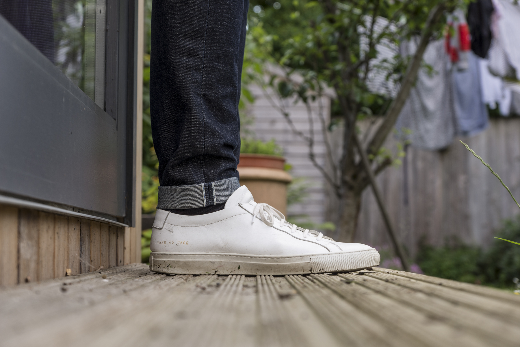 Common Projects Achilles with pinrolled UB101s