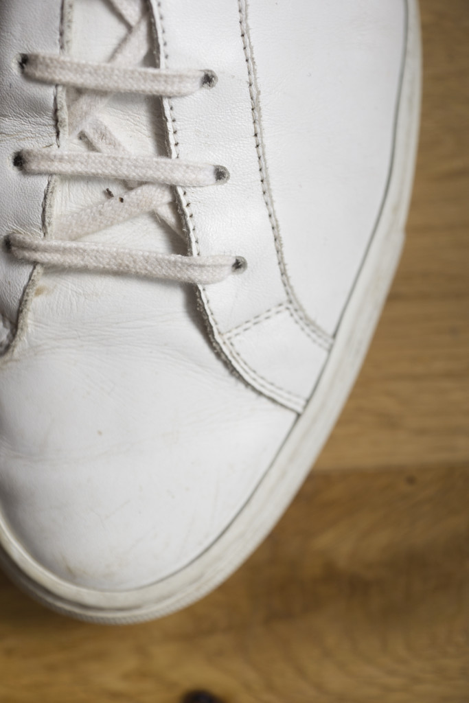 Common Projects Achilles stitching detail